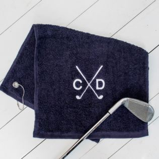 Personalised Luxury Golf Towel - Navy Product Image