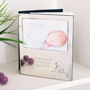 Engraved Silver Finish Teddy Bear Photo Album Product Image
