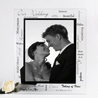 Large Our Wedding Glass Frame Product Image