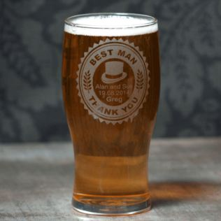 Personalised Best Man Pint Glass Product Image