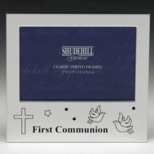 First Communion Doves and Cross Photo Frame Product Image
