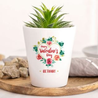 Personalised Happy Valentine's Day Plant Pot Product Image