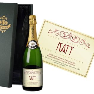 Personalised Valentine's Champagne Product Image