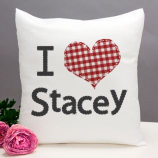 Valentine's Day Gift - I Love..... Cushion Product Image