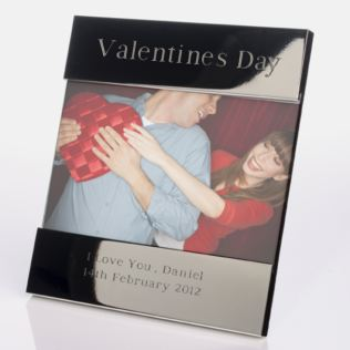 Engraved Valentine's Day Photo Frame Product Image