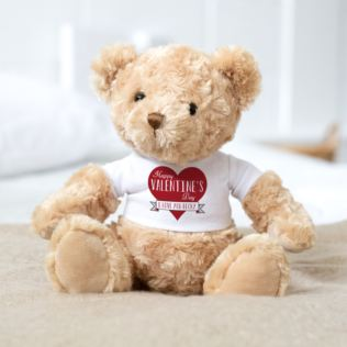 Personalised Valentine's Day Teddy Bear Product Image