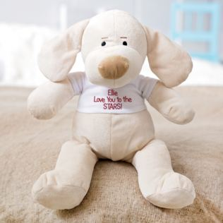 Personalised Valentines Day Puppy Soft Toy Product Image