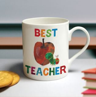 Personalised Very Hungry Caterpillar Best Teacher Large Balmoral Mug Product Image