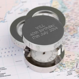 Engraved Silver Plated Weather Station Product Image