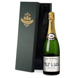 Personalised Anniversary Champagne Product Image