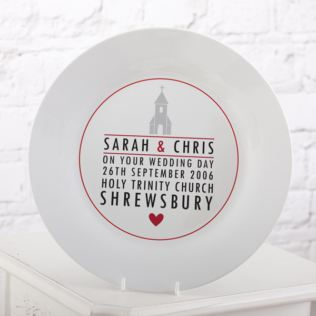 Personalised Wedding Plate - Church Design Product Image