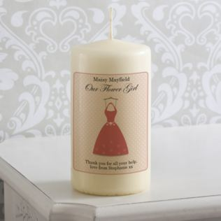 Personalised Flower Girl Dress Candle Product Image