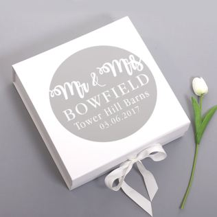 Mr & Mrs Personalised Wedding Keepsake Box Product Image