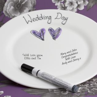 Wedding Guests Signature Plate Product Image