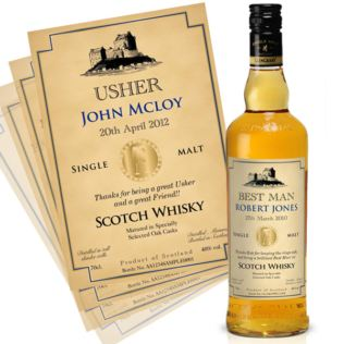 Personalised Wedding Day Malt Whisky Product Image