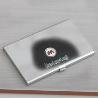 Personalised Welsh Dragon Business Card Holder Product Image