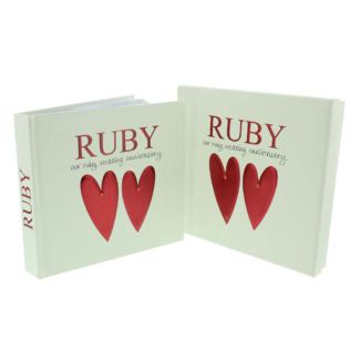 Ruby Anniversary Photo Album and Keepsake Box Product Image