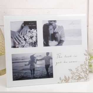 The Best Is Yet To Come Pale Grey Glass Photo Frame Product Image