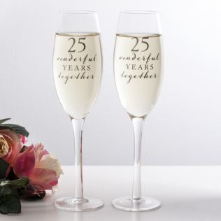 Happy 25th Anniversary Glasses Product Image