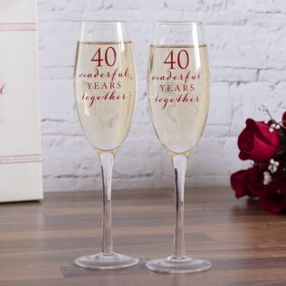 Happy 40th Anniversary Glasses Product Image
