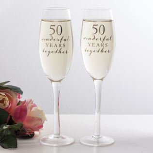Happy 50th Anniversary Glasses Product Image