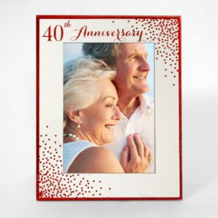Ruby (40th) Anniversary Sparkle 5 x 7 Inch Photo Frame Product Image