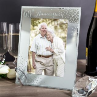 60th Anniversary Celebrations Sparkle Photo Frame Product Image