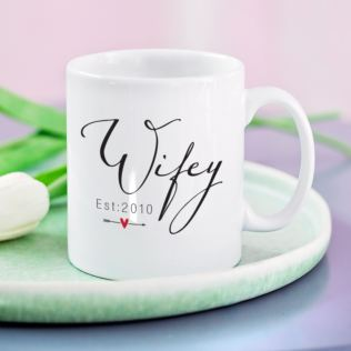 Personalised Wifey Mug Product Image