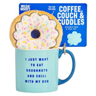 Wild & Woofy Mug & Donut Dog Toy Set Product Image