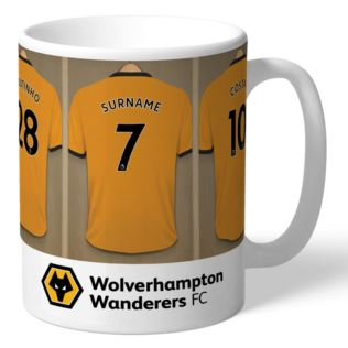 Personalised Wolves Dressing Room Mug Product Image