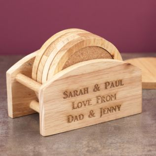 Personalised Wooden Coaster Set Product Image