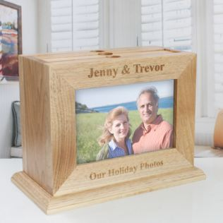 Personalised Wooden Photo Frame Box with Pull Out Albums Product Image