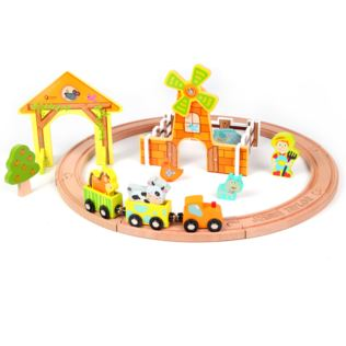 Personalised Wooden Farm Train Set Product Image