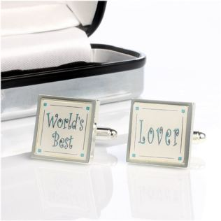 Personalised Worlds Best Lover Cufflinks Product Image