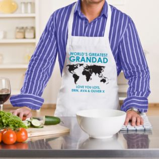 World's Greatest Grandad Personalised Apron Product Image