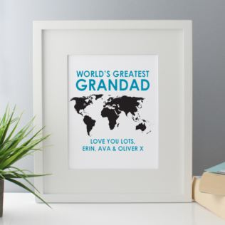 Personalised Worlds Greatest Grandad Framed Print Product Image
