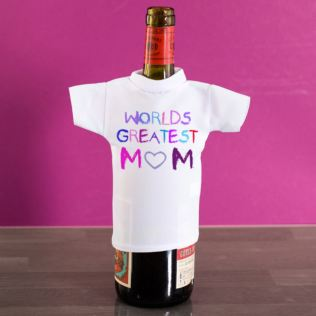 Worlds Greatest Mum Wine Bottle T-Shirt Product Image