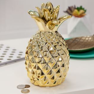Gold Pineapple Money Box Product Image