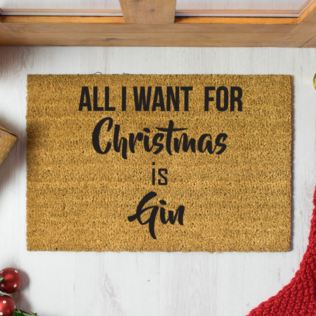 All I Want for Christmas is Gin Doormat Product Image