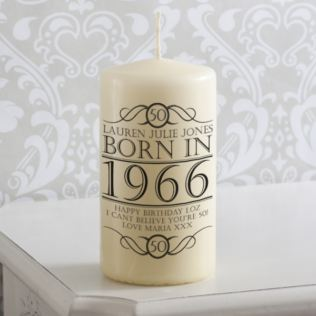 Personalised Year You Were Born Candle Product Image
