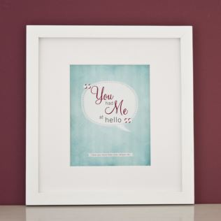 Personalised You Had Me At Hello Framed Print Product Image