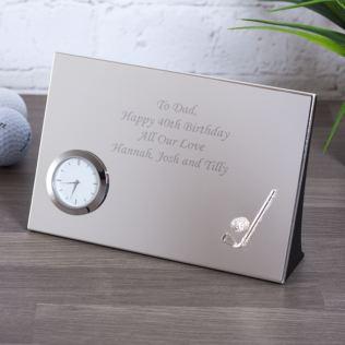 Personalised Luxury Golf Desk Clock Product Image