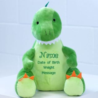 New Baby Embroidered Cuddly Dinosaur Product Image