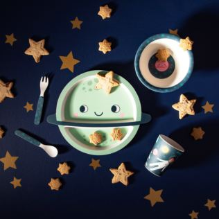Space Explorer Bamboo Tableware Set Product Image