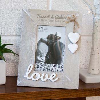 Personalised Ashley Farmhouse Love Standing Photo Frame