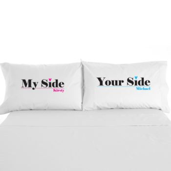 My Side / Your Side Personalised Pillowcases