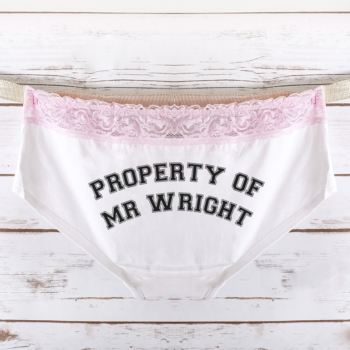 Personalised Property Of Ladies Hipster Briefs