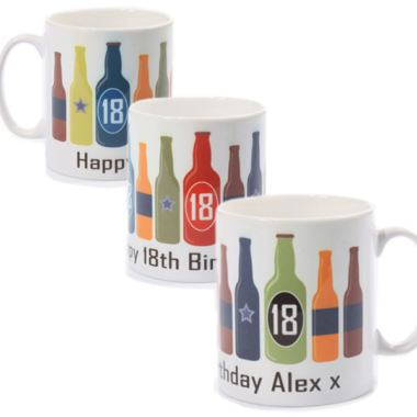Personalised 18th Birthday Beer Bottles Mug
