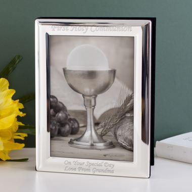 Engraved Silver Plated Communion Photo Album