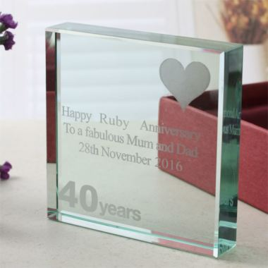Ruby Wedding Anniversary Gift Experiences : 40th (Ruby) Anniversary Keepsake The Gift Experience